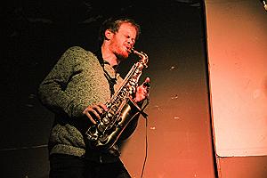 Jamie Stockbridge performing live in Taupe